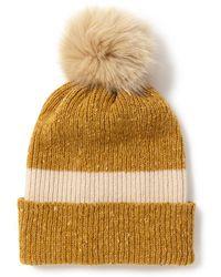 Jigsaw - Donegal Stripe Pom Hat - Lyst