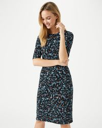 Jigsaw - Island Print Waisted Jersey Dress - Lyst