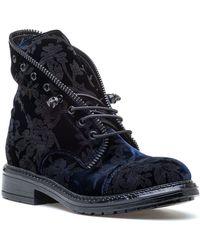 275 Central - 3995 Navy Velvet Boot - Lyst