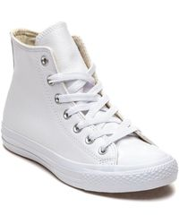 4fb858dbadb8 Converse - Chuck Taylor All Star Sneaker White Leather - Lyst