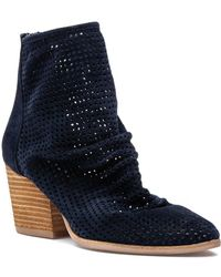 Jeffrey Campbell - Jenelle Boot Navy Suede - Lyst