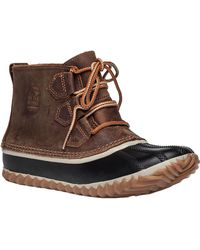 Sorel - Out N About Leather Ankle Boots - Lyst