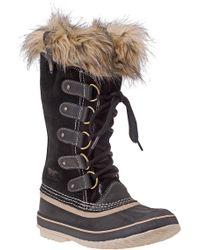 Sorel - Joan Of Arctic Boot Black Suede - Lyst
