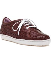 Robert Zur - Terrie Tie Vintage Luggage Leather Sneaker - Lyst