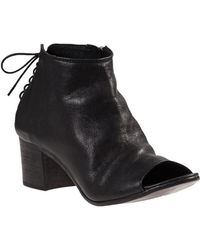 275 Central | Laced Back Bootie Black Leather | Lyst