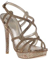 Pelle Moda | Flirt Evening Sandal Bronze Snake | Lyst