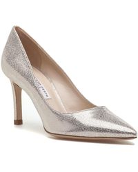 Roberto Festa - 85000 Cracked Gold Leather Pump - Lyst