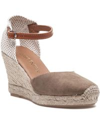 275 Central - Nantes Camel Suede Espadrille Wedge - Lyst