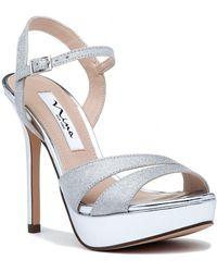 Nina - Silana Evening Sandal Silver - Lyst
