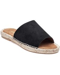 275 Central | Mali-pf Perforated Black Suede Slide | Lyst