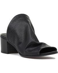 275 Central - 1635 Perforated Slide Black Leather - Lyst
