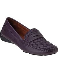Robert Zur   Petra Penny Loafer Eggplant Leather   Lyst