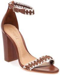 ca3d20d10a42 Schutz - Floriza Saddle Leather Sandal - Lyst