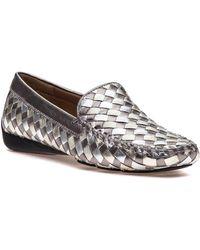 Robert Zur - Venetian Antique Silver Combo Loafer - Lyst