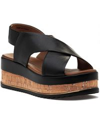 275 Central - 8837 Sandal Black Leather - Lyst