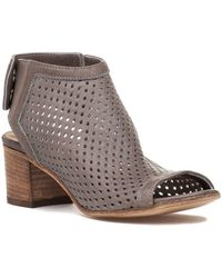 275 Central - 794 Perforated Bootie Taupe Leather - Lyst