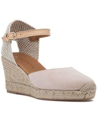 275 Central - Lola-p Espadrille Wedge Nude Suede - Lyst