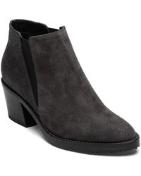 Aquatalia | Lillian Dark Grey Suede Bootie | Lyst