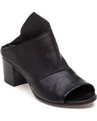 275 Central - 1277 Black Leather Slide - Lyst