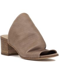 275 Central - 1635 Perforated Slide Tan Leather - Lyst