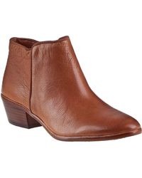 Sam Edelman - Petty Ankle Boot Saddle Leather - Lyst