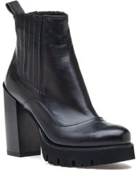 275 Central - 4224 Black Leather Boot - Lyst