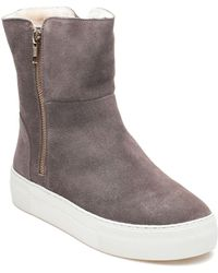 J/Slides | Allie Taupe Suede Boot | Lyst