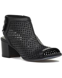 275 Central - 794 Perforated Bootie Black Leather - Lyst