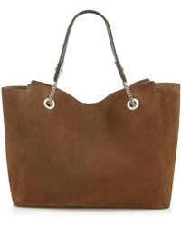 Jimmy Choo - Flo Cacao Suede Tote Bag - Lyst
