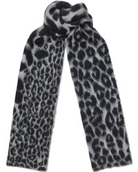 Jimmy Choo - Ashly Dark Grey Wool Blend Scarf - Lyst