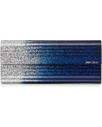 c865d048d93d Jimmy Choo - Sweetie Silver And Navy Dgrad Glitter Acrylic Clutch Bag - Lyst