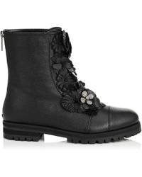 Jimmy Choo - Havana Flat Boots En Cuir - Lyst