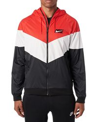 0495e46b00ea Nike - Sportswear Windrunner Hooded Track Jacket University Red  Summit  White  Black - Lyst