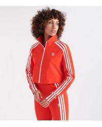 adidas - Cropped Track Jacket - Lyst