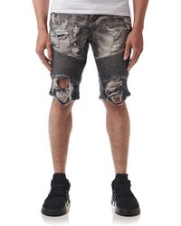 Heritage - 646 Biker Denim Short - Lyst
