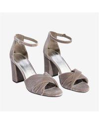 Joe Fresh - Twist Block Heel Velvet Sandals - Lyst