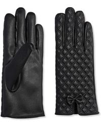 Joe Fresh - Quilted Faux Leather Gloves - Lyst