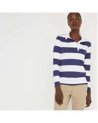 4c282460bf6 American Eagle Don't Ask Why Cropped Rugby Shirt in Natural - Lyst