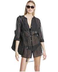 Joe Fresh - Long Sleeve Swim Cover Up - Lyst