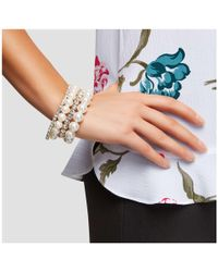 Joe Fresh - Faux Pearl Bracelet Set - Lyst