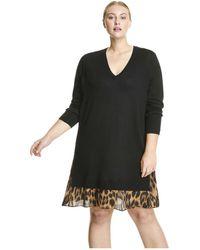 Joe Fresh Women Woven Hem Sweater Dress Lyst