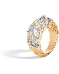 John Hardy - Naga Ring With Diamonds - Lyst