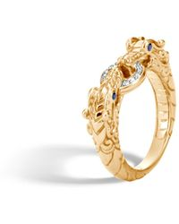 John Hardy - Legends Naga Diamond Pavé Ring - Lyst