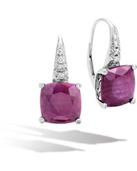 John Hardy - Magic Cut Drop Earring, Indian Ruby And Diamonds - Lyst