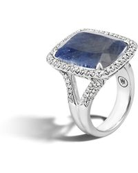 John Hardy Magic Cut Ring With Silver Sapphire And Diamonds