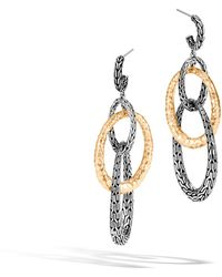 John Hardy | Classic Chain Hammered Drop Earring | Lyst