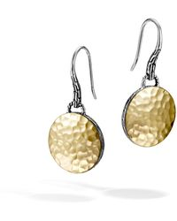 John Hardy - Hammered Drop Earring - Lyst