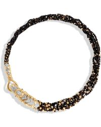 John Hardy - Naga Multi Row Necklace With Black Mother Of Pearl, Dia - Lyst