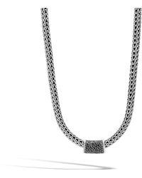 John Hardy - Classic Chain Pendant, Black Sapphire, Black Spinel - Lyst