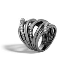 John Hardy | Bamboo Ring With Diamonds | Lyst